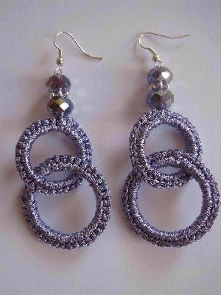 Gioielli fai da te: gli orecchini a uncinetto - Orecchini con doppio anello
