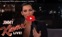 Kim Kardashian West on Bruce Jenner's Transition Kim Kardashian supports her stepdad, Bruce Jenner, the most famous openly transgender American, but when it comes to her 'Glam team', the people who make her look good, well, that's where she draws the line…