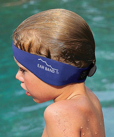 Ear Band-It Set by One Step Ahead Perfect for little swimmers prone to ear infections, this Ear Band-It set keeps water from entering the ear canal. Simply insert the putty-like ear plugs and stretch the elastic band over the head for more aquatic fun without the worry.   #zulily