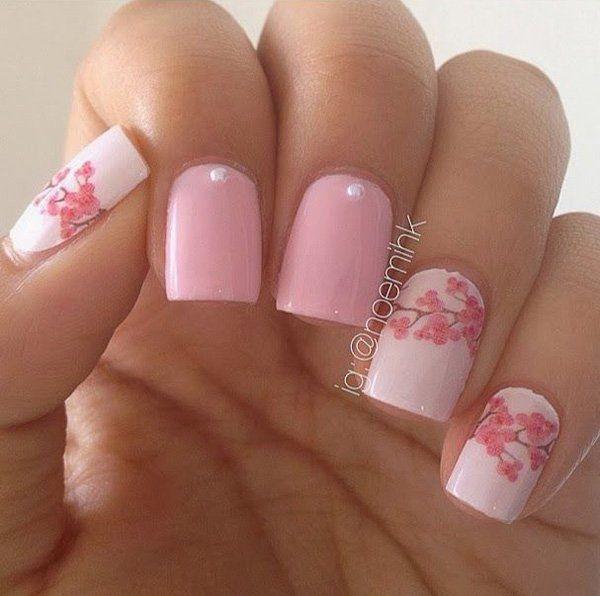 pink nail art 44 - 65 lovely Pink Nail Art Ideas