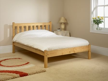 shaker bed frame with low foot end - Low Wood Bed Frame