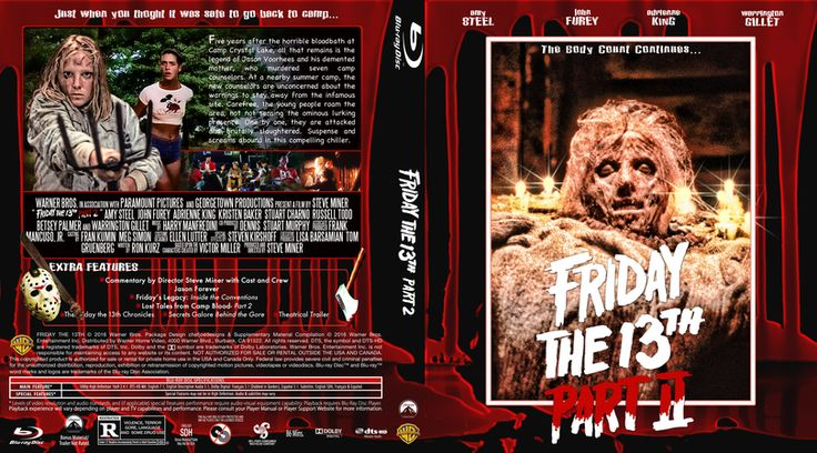 Friday the 13th Part 2 Blu-ray Custom Cover