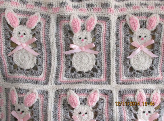 Free Crochet Easter Afghan Patterns : 9 Best images about Bunny Blanket on Pinterest Baby ...