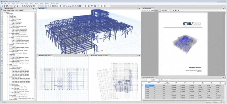 ETABS by Computers and Structures Inc - http://www.cesdb.com/etabs.html - ETABS is the solution, whether you are designing a simple 2D frame or performing a dynamic analysis of a complex high-rise that utilizes non-linear dampers for inter-story drift control. - #frames #truss #floor #roof #concrete #steel #floor #construction #civilengineering