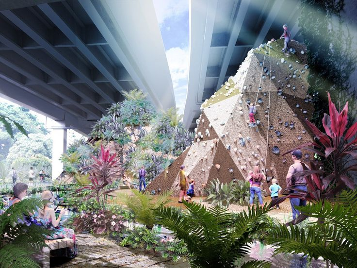 Singapore is renovated an abandoned railway to include rock-climbing caves and urban farms