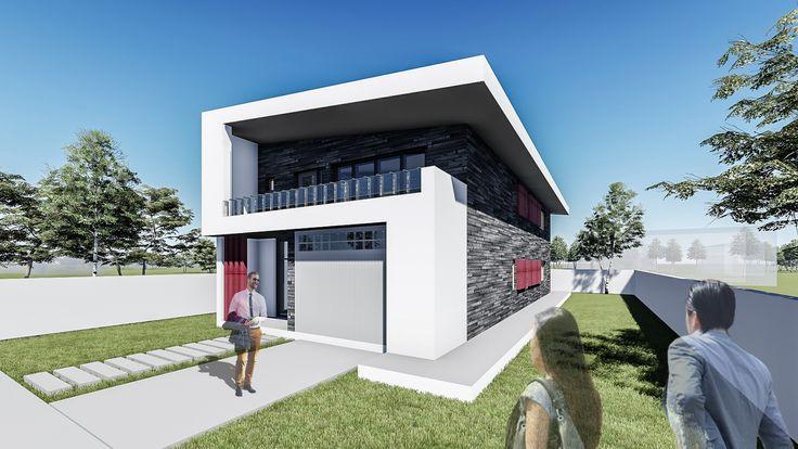 Proiect casa SELENA. Parter + Mansarda  |  4 camere  | 200 mp. Mai multe detalii gasiti aici: http://uberhause.ro/proiect-casa-parter-mansarda-200-mp-selena