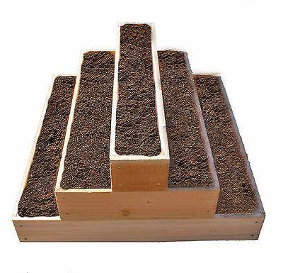 Cama De Cedro levantada 3 nivel plantador de jardín envío gratuito Nuevo in Casa y jardín, Patio, jardín y espacios abiertos, Suministros de jardinería | eBay