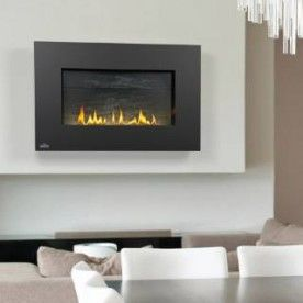 Napoleon WHVF31N Vent Free Plazmafire Wall Hanging Fireplace Complete With Slate Brick Panel.  Gas. UNIT INCLUDES: ELECTRONIC IGNITION GAS VALVE WITH ON/OFF SWITCH, CATALYTIC FILTERING TILES, HEAT RESISTANT CERAMIC GLASS, EXCLUSIVE SLATE BRICK PANEL, WALL MOUNTING BRACKETS (MOUNTING SCREWS NOT SUPPLIED), GAS SHUT OFF, BURNER WITH DECORATIVE TOPAZ GLASS EMBERS, MOBILE HOME APPROVED. 20,000 BTU's.