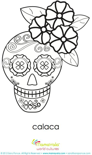 73 best day of the dead activities and art ideas images on pinterest super cute day of the dead girl calaca coloring sheet includes a link with educational ccuart Gallery