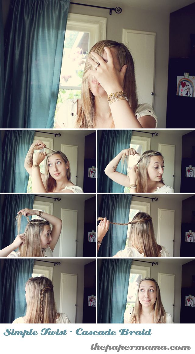 so simple, unbelievable that i haven't seen this yet! wonderful for people who can't wrap their mind around french braids..like ME!