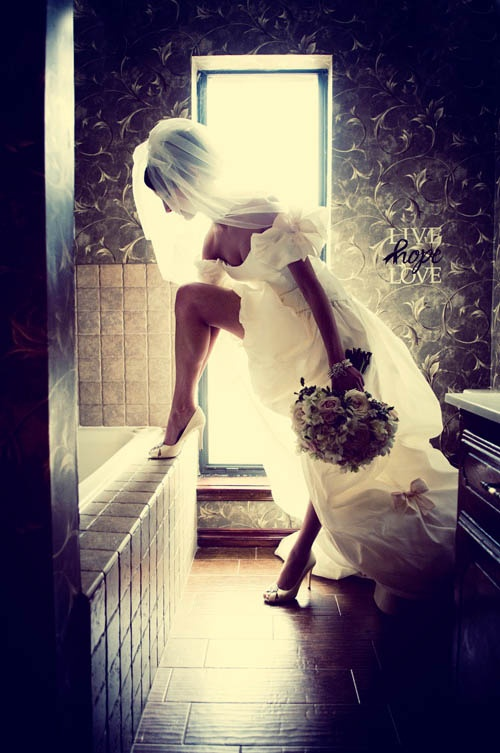 I want this dress when I get married, just like the one from November Rain.  GNR wedding!  :)