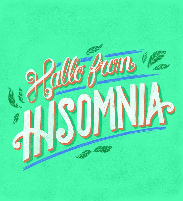 Hallo from Insomnia  #typo #typography #lettering #handlettering #graphic #graphicdesign #letteringposter