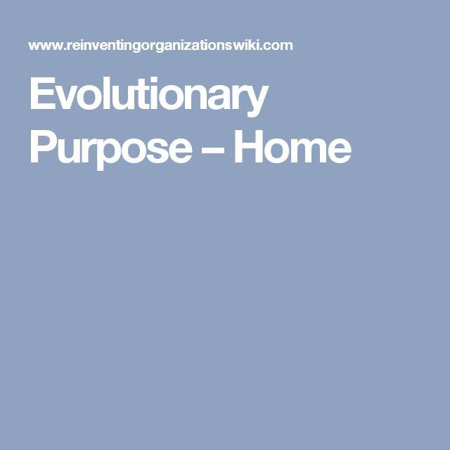 Evolutionary Purpose – Home