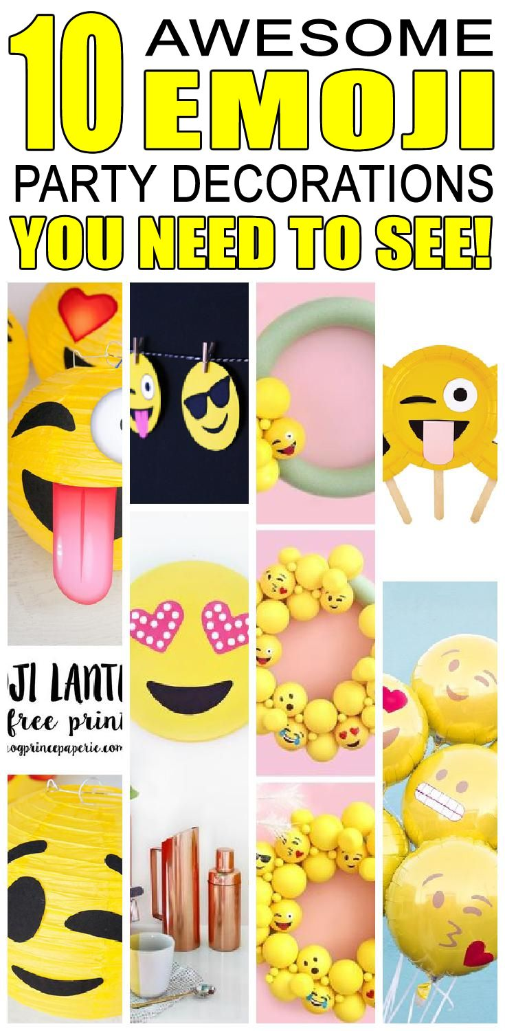 10 awesome emoji party decoration ideas for kids birthday parties! Children will love these cool emoji birthday party decorations and activities.