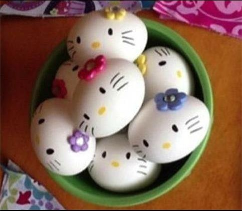 Egg decorating contest