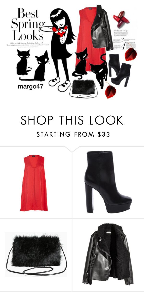 """""""czarne koty"""" by margo47 ❤ liked on Polyvore featuring H&M, Azeeza, EMILY THE STRANGE, Schutz and Torrid"""