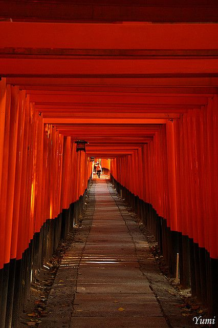 red tunnel by * Yumi *, via Flickr