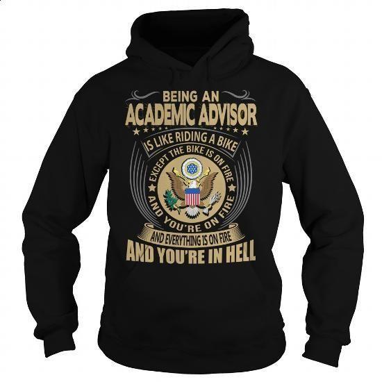 Academic Advisor Job Title #tee #Tshirt. GET YOURS => https://www.sunfrog.com/Jobs/Academic-Advisor-Job-Title-104166624-Black-Hoodie.html?60505