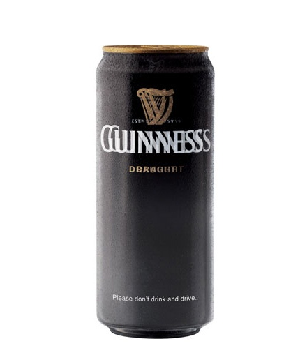Guinness: please don't drink and drive.
