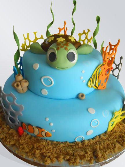Round Finding Nemo Squirt Cake for Kid's Birthday Party