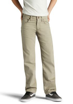Lee Boys' X-Treme Comfort Straight Fit Khaki Pants Boys 8-20 - Light Khaki - 14 Slim