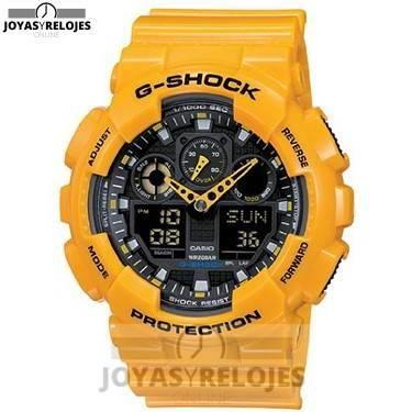 ⬆️✅ CASIO G-Shock GA-100A-9AER ✅⬆️ Fantástico Modelo de la Colección de Relojes Casio PRECIO 81 € Lo puedes comprar en  https://www.joyasyrelojesonline.es/producto/casio-g-shock-ga-100a-9aer-reloj-de-caballero-de-cuarzo-correa-de-resina-color-amarillo-con-alarma-cronometro-luz/  ¡¡Edición limitada!!