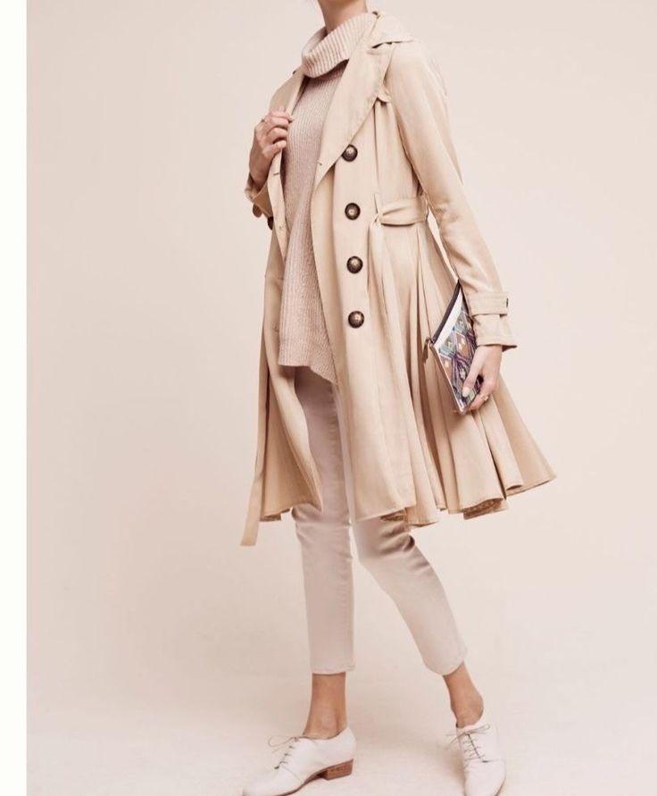 NEW Anthropologie Edmond Trench Coat dRA SP Beige $168 Free Shipping  | eBay
