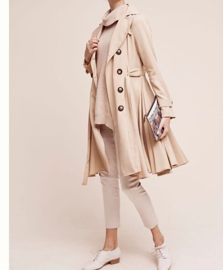 NEW Anthropologie Edmond Trench Coat dRA SP Beige $168 Free Shipping  | eBay