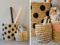 Lovely Life | DYI painted baskets