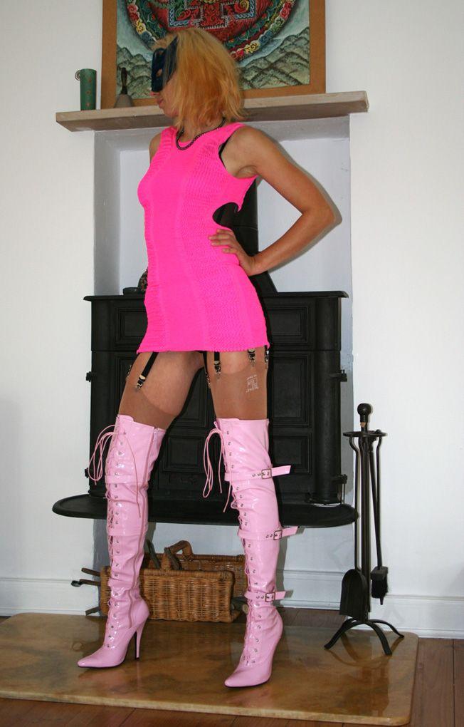 Sexy Overknee High Heels Pink Fetisch Gr.38