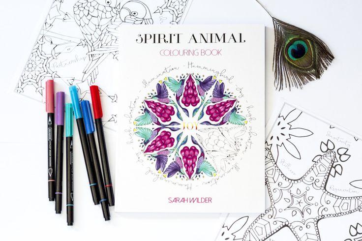 The Sarah Wilder Spirit Animal Colouring Book #colouringbook #coloringbook #book #meditation #mindfulness #colouring #coloring #spiritanimal #TFEL #sarahwilder