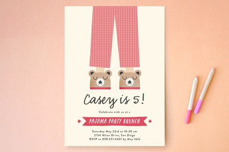 Pajama Party Kids Party Invitations by Erica Krystek at minted.com