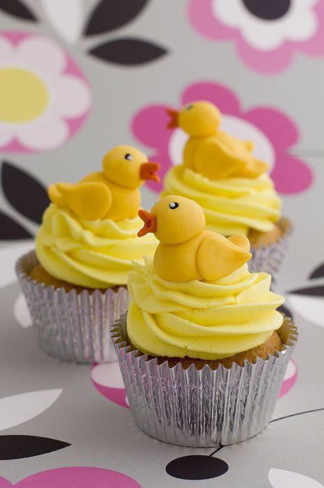 Duck cupcakes. Cute!