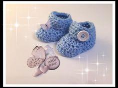 Super süsse Babyschuhe ganz einfach selber häkeln Für Anfänger super geeignet Babyschuhe 0-6 Monate