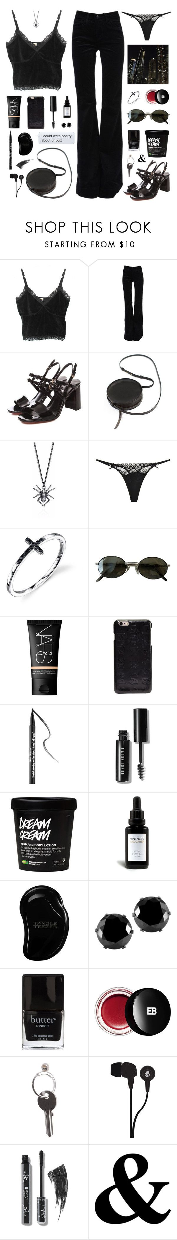 """""""fallen on me"""" by ampersand ❤ liked on Polyvore featuring J Brand, Sara Barner, Cotton Club, Ray-Ban, Maison Margiela, Too Faced Cosmetics, Bobbi Brown Cosmetics, Vintner's Daughter, Tangle Teezer and West Coast Jewelry"""