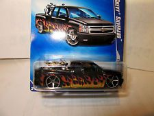 HOT WHEELS CHEVY SILVERADO PARTS OF HEAT FLEET 2009 BLACK RARE