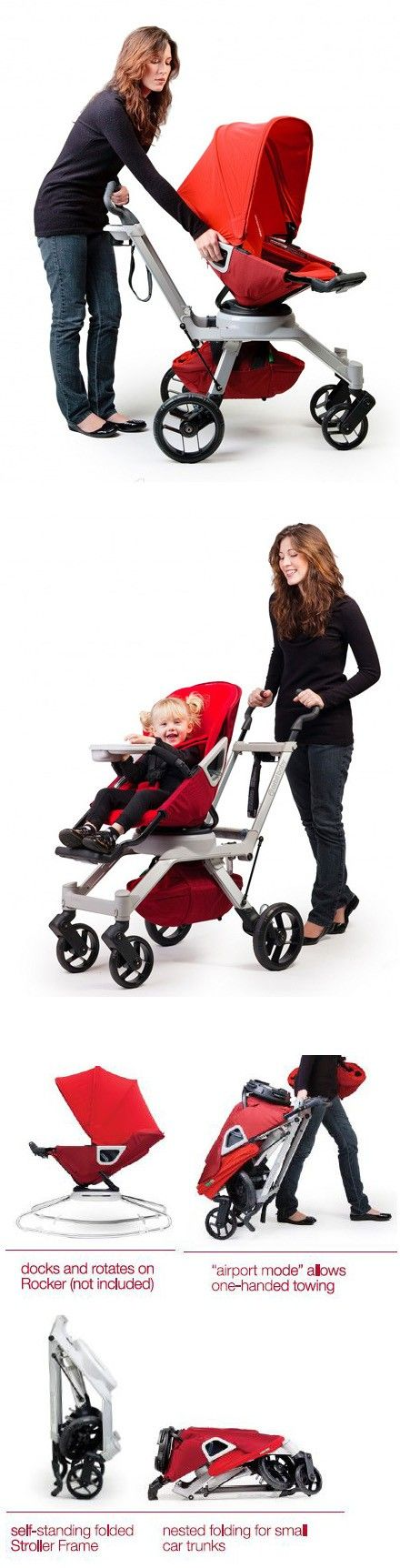 Orbit Baby G2 Stroller is a baby seat and stroller in one