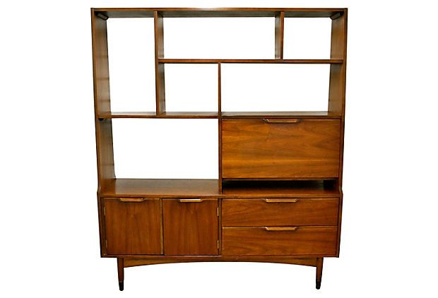 mid century modern wall unit on sven. Black Bedroom Furniture Sets. Home Design Ideas