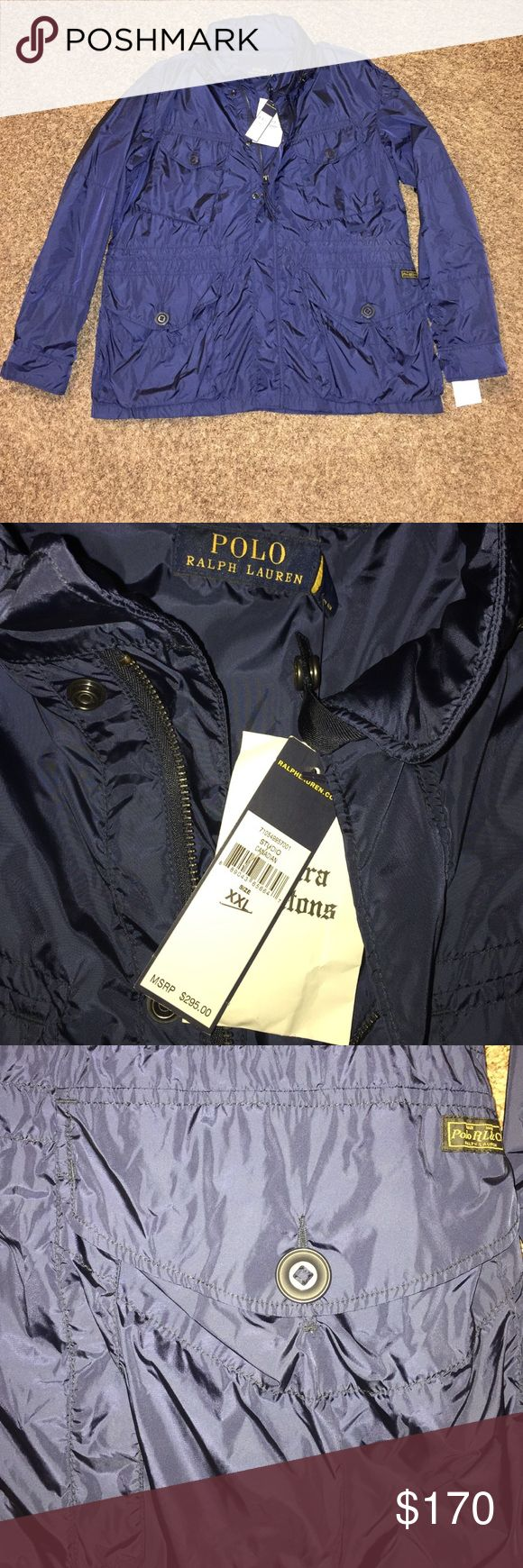 Ralph Lauren Polo Combat Jacket Navy A versatile Ralph Lauren Taffeta Combat jacket that'll have you ready for rain or chilly weather and looking good through fall, winter, and spring! This currently sells at Saks and elsewhere for $295. Get it brand new at a steal price. Polo by Ralph Lauren Jackets & Coats