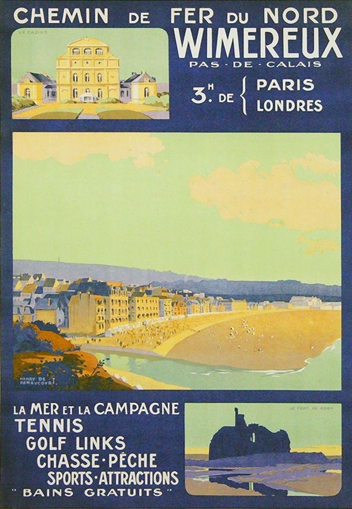 Chemin de Fer du Nord Affiches vintage affiches sur