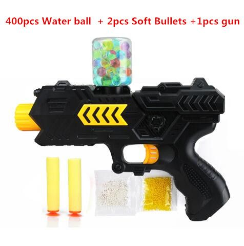 400pcs +gun water ball Orbeez balls Soft Paintball Gun Pistol Soft Bullet CS Water Crystal Gun Nerf Air Airgun gel balls beads