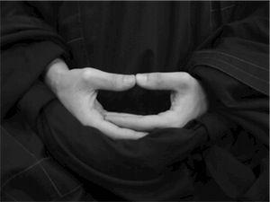 zazen. meditation spiritual reverence.