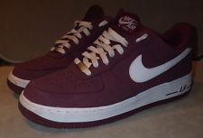 Cerezo Granate Rojo para hombres NIKE FORCE 1 Zapatillas Sneakers-AIR UK Size 9