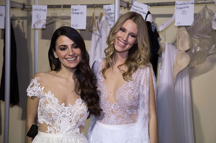 Backstage from the YesIDo bridal fashion show! Among the Anem stunners! Gorgeous celebrities in their romantic custom made wedding dresses! Dreamy!