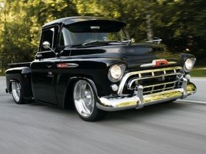 YES!!! Hot ride,1957 Chevy Pickup! My lady and I would look so right in this!