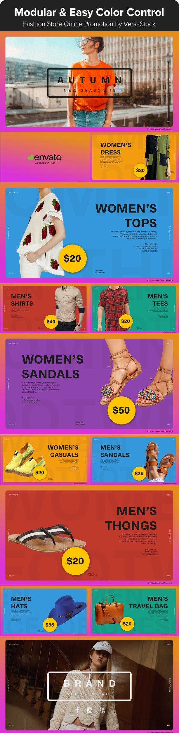 Fashion Online Web | Promo by VersaStock | VideoHive