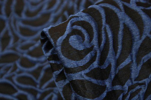 Blue Roses - Blends - Tessuti Fabrics - Online Fabric Store - Cotton, Linen, Silk, Bridal & more