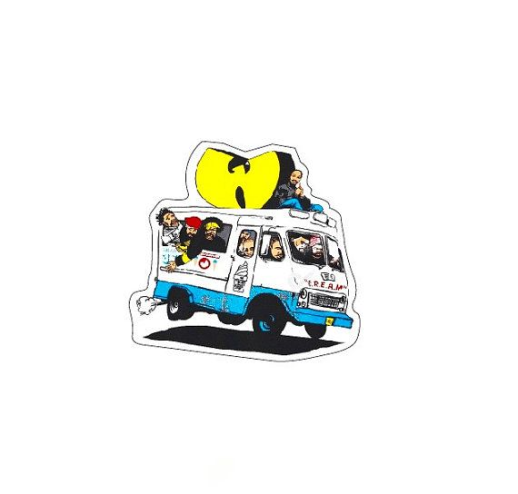 Wu tang clan icecream truck cool fun sticker by watermelonstickers