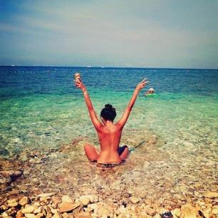 Beach bikini dip dippin dipping skinny swimsuit