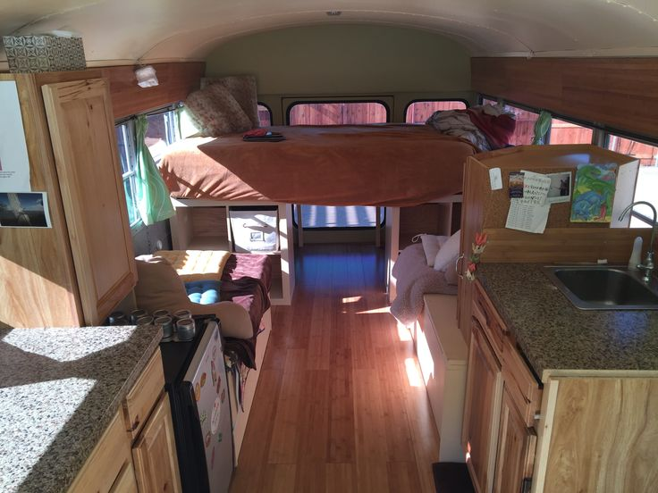 We renovated an old church bus into a beautiful RV - Imgur